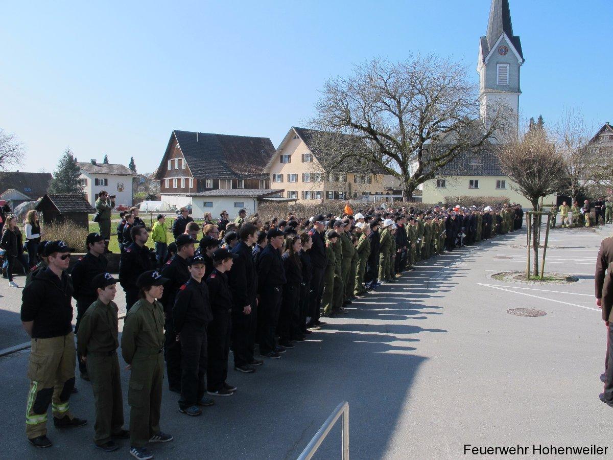 Wissenstest 2016 der Feuerwehrjugend des Bezirkes Bregenz